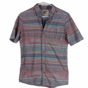 Vans Off The Wall Striped Short Sleeve Shirt